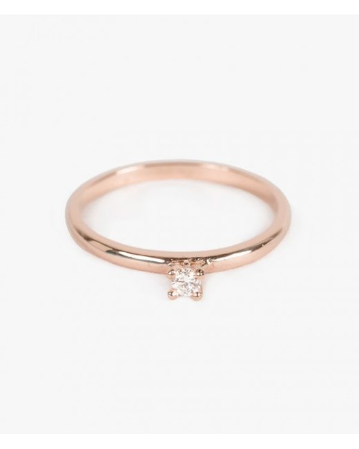 Ariel Gordon | Pink Diamond Charm Ring | Lyst