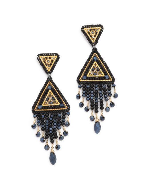 Miguel Ases | Metallic Swarovski Chandelier Earrings | Lyst