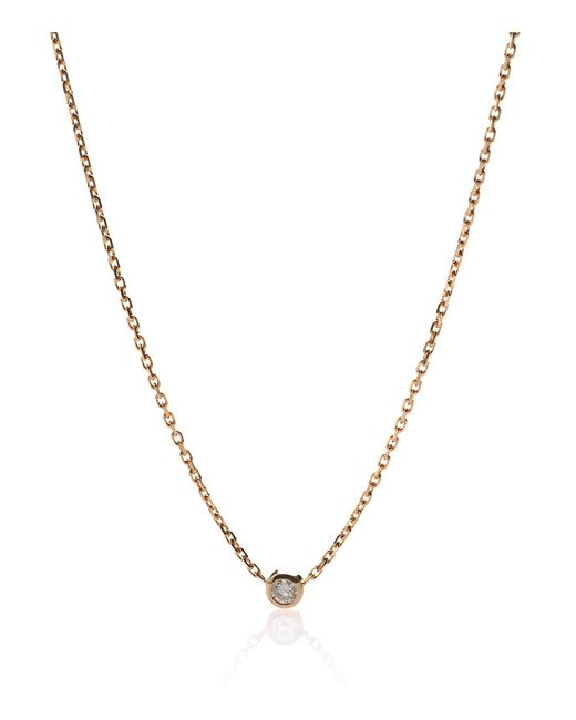 RedLine | Pure Yellow Gold Diamond Necklace | Lyst
