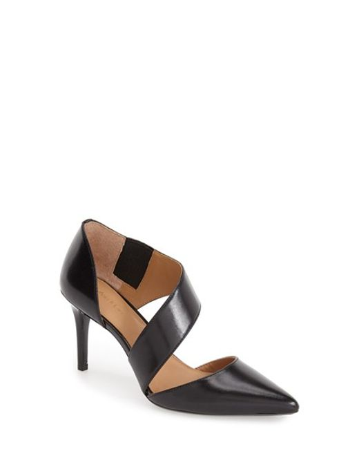 Calvin Klein | Black 'Gella' Pointy Toe Pump | Lyst