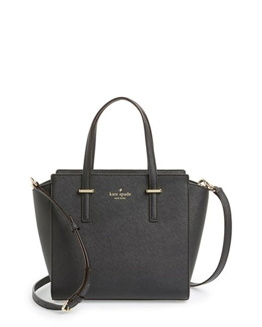 Kate Spade | Black 'cedar Street - Small Hayden' Leather Satchel | Lyst