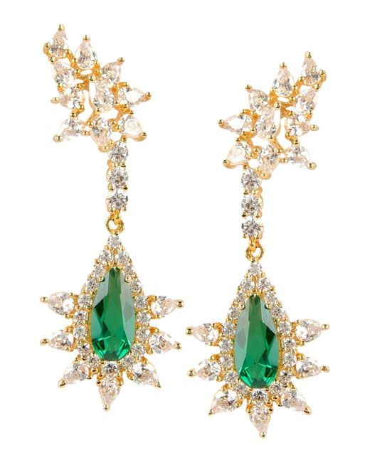 CZ by Kenneth Jay Lane | Green Earrings | Lyst