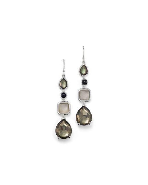 Ippolita | Multicolor Sterling Silver Rock Candy 4 Stone Linear Earrings In Black Tie | Lyst