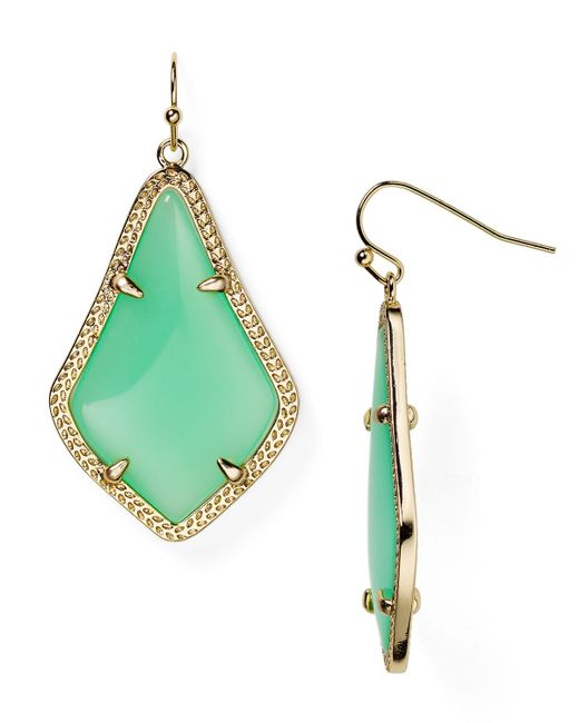 Kendra Scott | Green Alex Earrings | Lyst