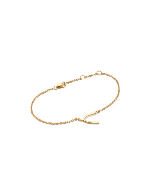 Jennifer Zeuner | Metallic Mini Wishbone Bracelet | Lyst