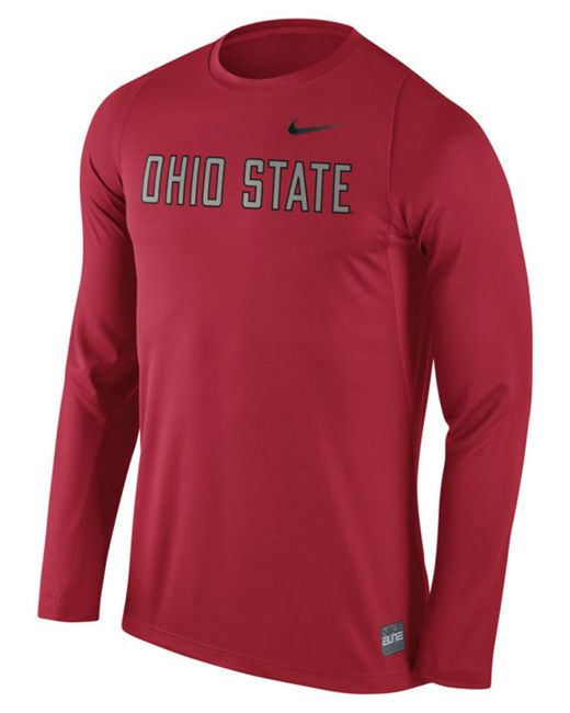 Nike men 39 s ohio state buckeyes elite basketball shooter t for Ohio state shirts mens