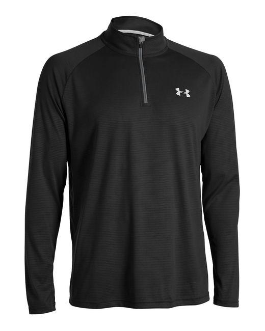 Under Armour   Black Tech 1/4-zip Shirt for Men   Lyst