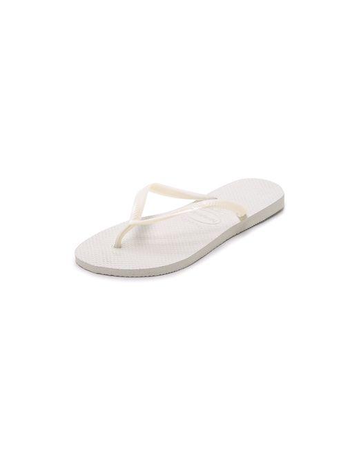 Havaianas | White Slim Flip Flops | Lyst