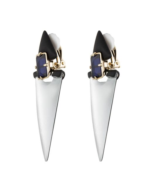 Alexis Bittar | Metallic Dangling Lucite Geometric Clip Earring With Custom Baguette You Might Also Like | Lyst
