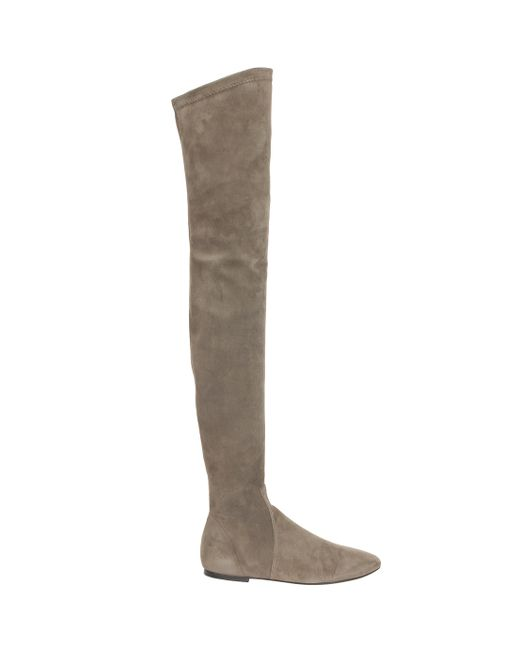 Étoile Isabel Marant   Natural Brenna Suede Over-The-Knee Boots   Lyst