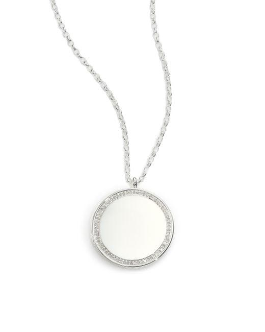 Astley Clarke | Metallic Cosmos Diamond & Sterling Silver Medium Locket Necklace | Lyst