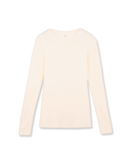 Petit Bateau | Natural Women's Long-sleeved Light Cotton Tee | Lyst