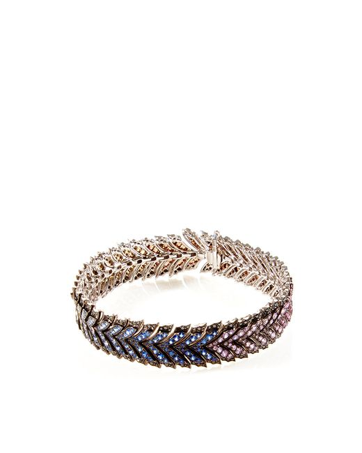 Stephen Webster | Blue Les Dents De La Mer Metallic Lace Bracelet | Lyst