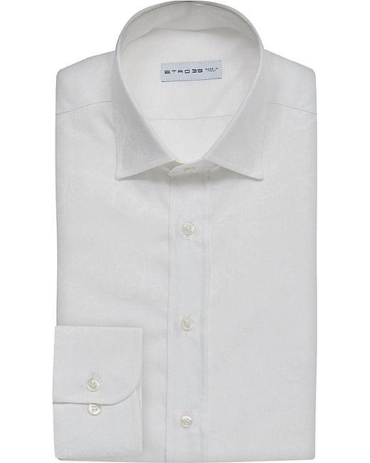 Etro   White Tonal Floral-pattern Cotton Shirt for Men   Lyst