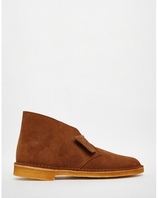 clarks suede desert boots in brown for save 41 lyst