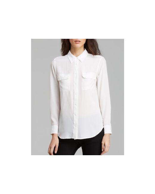 Equipment | White Shirt - Slim Signature Silk | Lyst