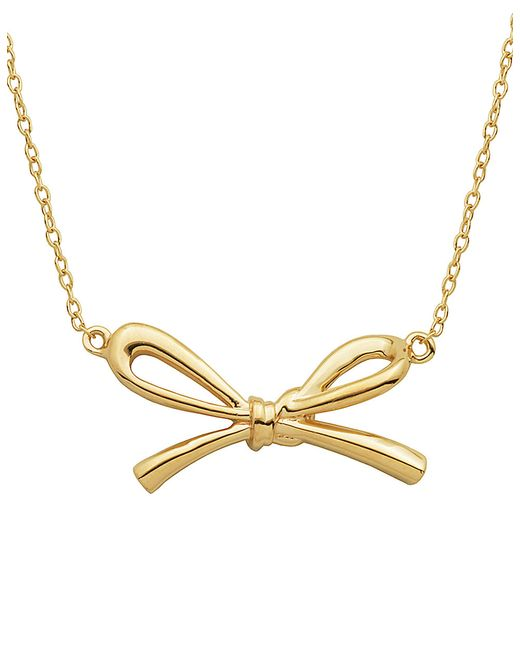 Lord & Taylor | Metallic 18kt Gold Bow Pendant Necklace | Lyst
