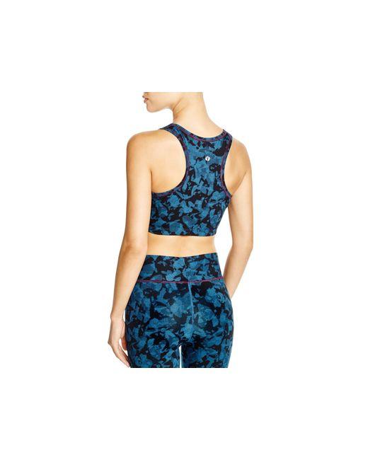 Yummie By Heather Thomson | Blue Sports Bra - Cotton Wow Racerback #ya7-001 | Lyst