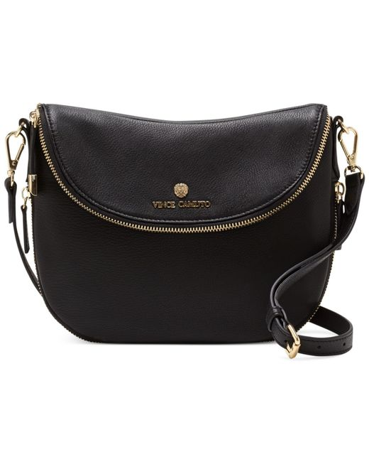 Vince Camuto | Black Rizo Saddle Crossbody | Lyst