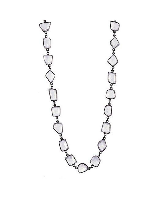 Adornia | White Moonstone Mila Necklace | Lyst