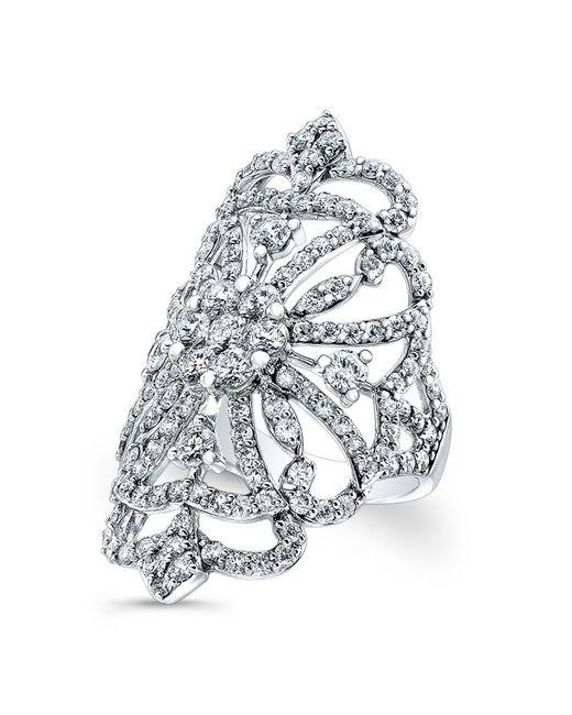 Anne Sisteron | Metallic 18kt White Gold Diamond Reine Ring | Lyst