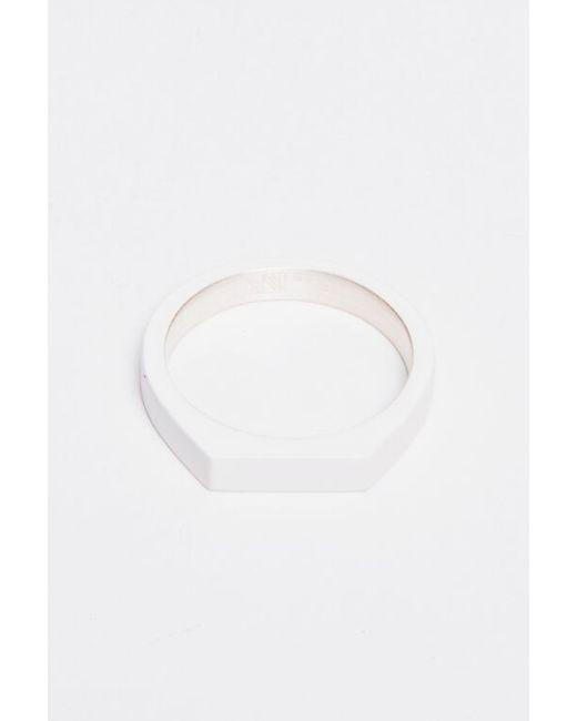 Ming Yu Wang | Metallic Silver Theorem Ring | Lyst