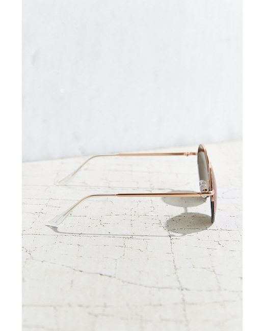 Urban Outfitters   Metallic Famous Metal Round Sunglasses   Lyst