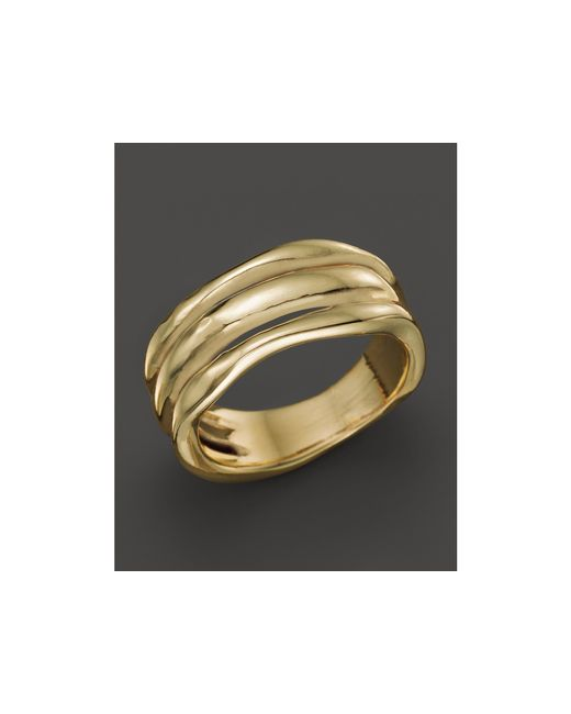 Ippolita | Metallic 18k Gold Glamazon Triple Band Squiggle Ring | Lyst