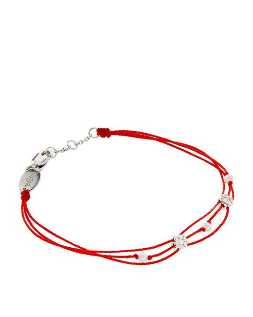 RedLine | Red Diamond And Pearl Pure Bracelet | Lyst