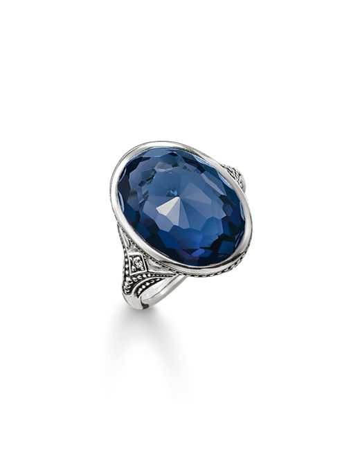 Thomas Sabo | Purity Of Lotos Dark Blue Cocktail Ring | Lyst