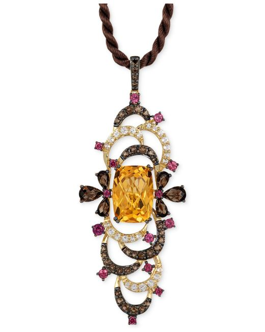 Le Vian | Multicolor ® Crazy Collection® Multi-stone Pendant Necklace (9-1/2 Ct. T.w.) In 14k Gold | Lyst