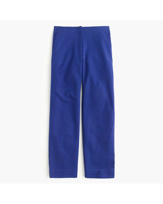 J.Crew | Blue Patio Pant In Bi-stretch Cotton | Lyst