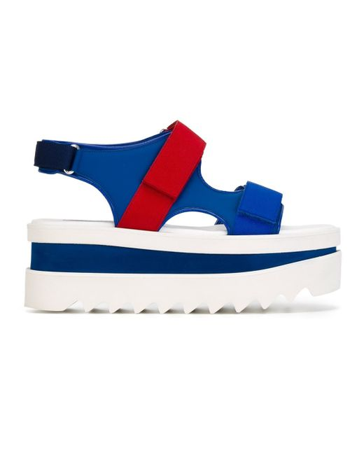Stella McCartney | Blue Platform Sandals | Lyst