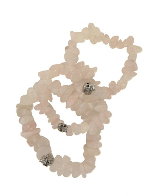 Duchess Of Malfi | Natural Rose Quartz Skull Bracelet | Lyst