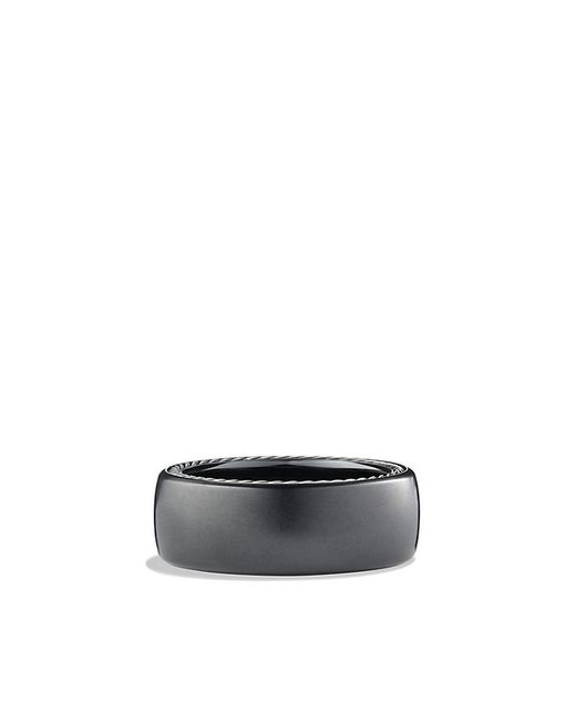 David Yurman | Streamline Wide Band Ring With Black Titanium, 9mm for Men | Lyst