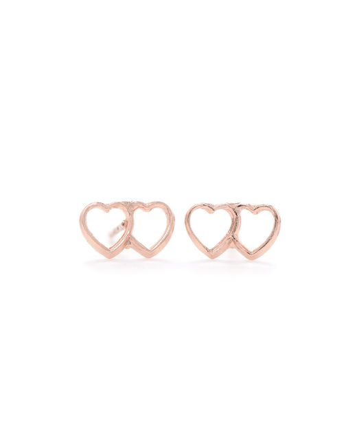 Bing Bang | Metallic Loved Up Studs | Lyst