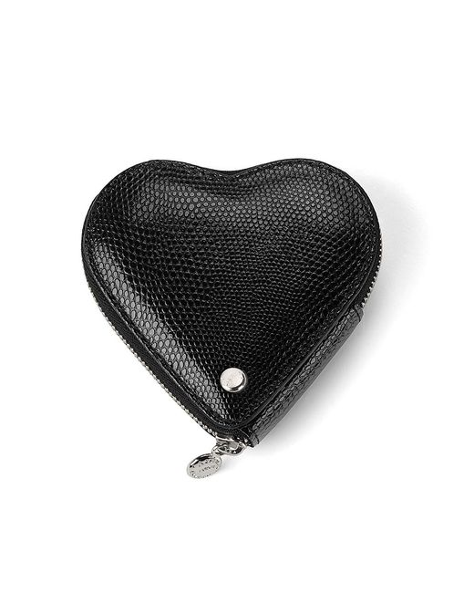 Aspinal | Black Leather Heart Coin Purse | Lyst
