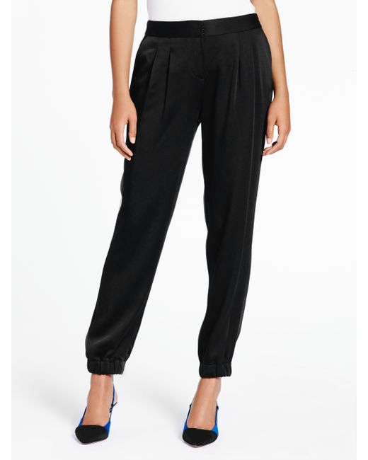 Kate Spade | Black Cinch Bottom Pant | Lyst