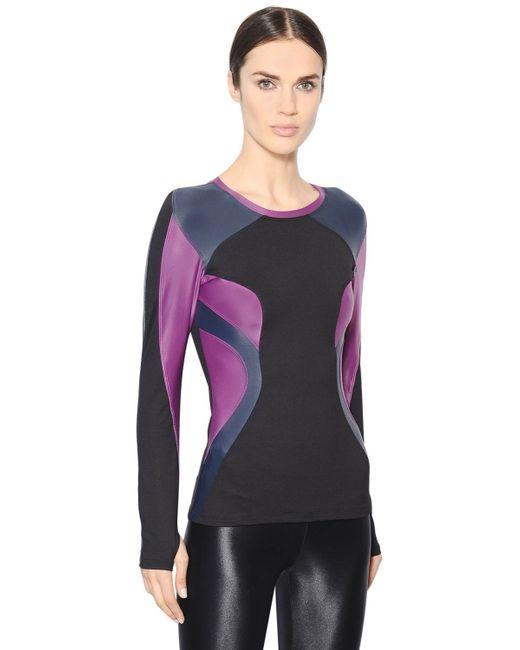Koral Activewear Patchwork Lycra Long Sleeve T Shirt In