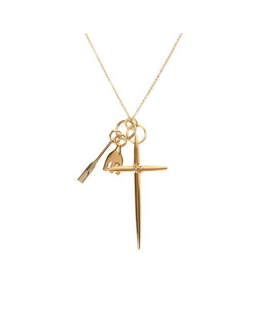 Chloé | Metallic Harlow Brass Pendant Necklace | Lyst
