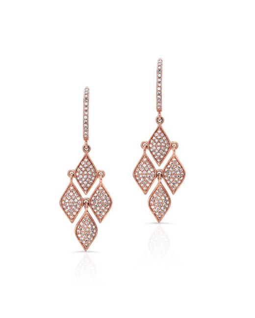 Anne Sisteron | Metallic 14kt Rose Gold Diamond Mini Marquis Earrings | Lyst