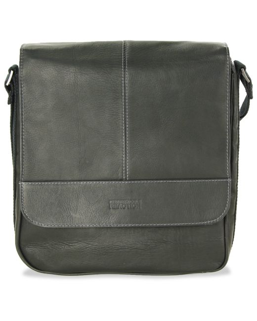Kenneth Cole Reaction | Black Colombian Leather Vertical Flapover Tablet Case for Men | Lyst