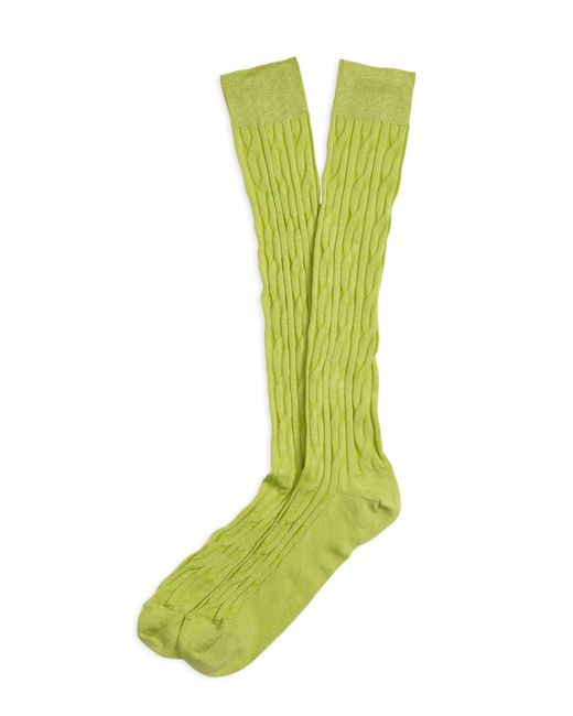 Brooks Brothers | Green Cable Over-the-calf Socks for Men | Lyst