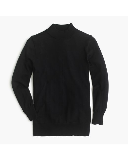 J.Crew | Black Petite Tippi Mockneck Sweater | Lyst