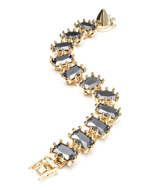 Eddie Borgo | Black Small Rectangle Estate Bracelet | Lyst