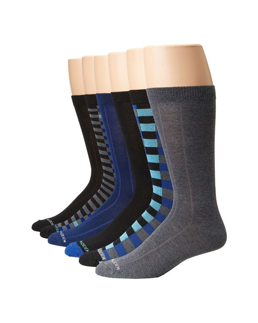 Steve Madden | Blue 6-pack Fashion Crew Socks for Men | Lyst