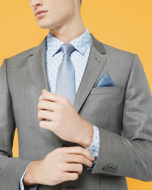 Ted Baker | Gray T For Tall Lubwai Textured Waistcoat for Men | Lyst