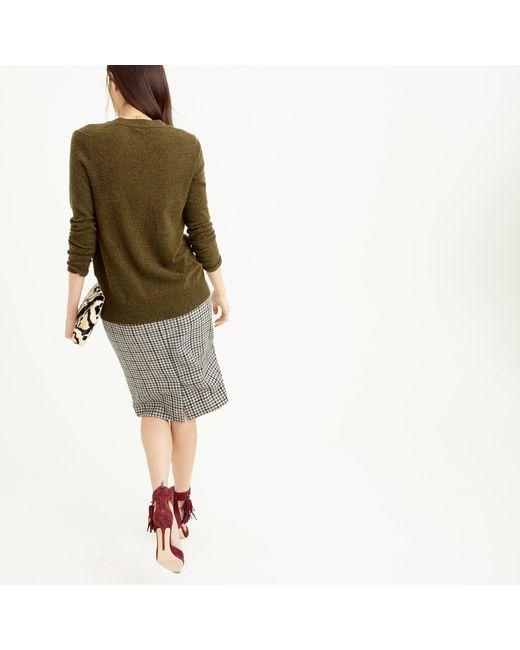 J.Crew | Green Classic V-neck Cardigan Sweater | Lyst