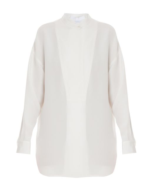 Alexander Wang | White Oversized Silk Crepe Top | Lyst