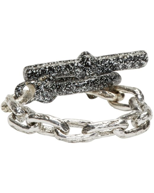 Pearls Before Swine | Metallic Ssense Exclusive Silver Toggle Ring for Men | Lyst